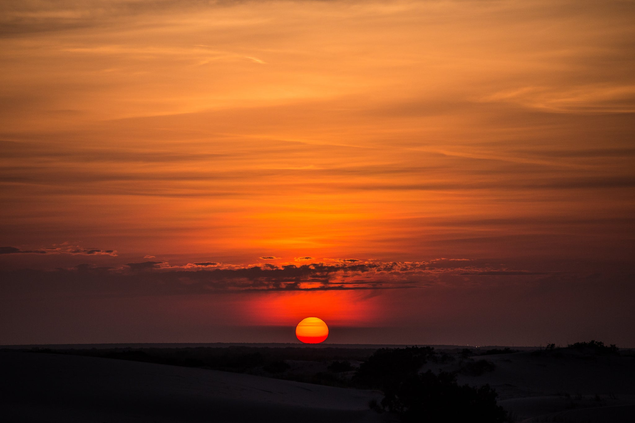 Sunrise at Monahans Sandhills State Park