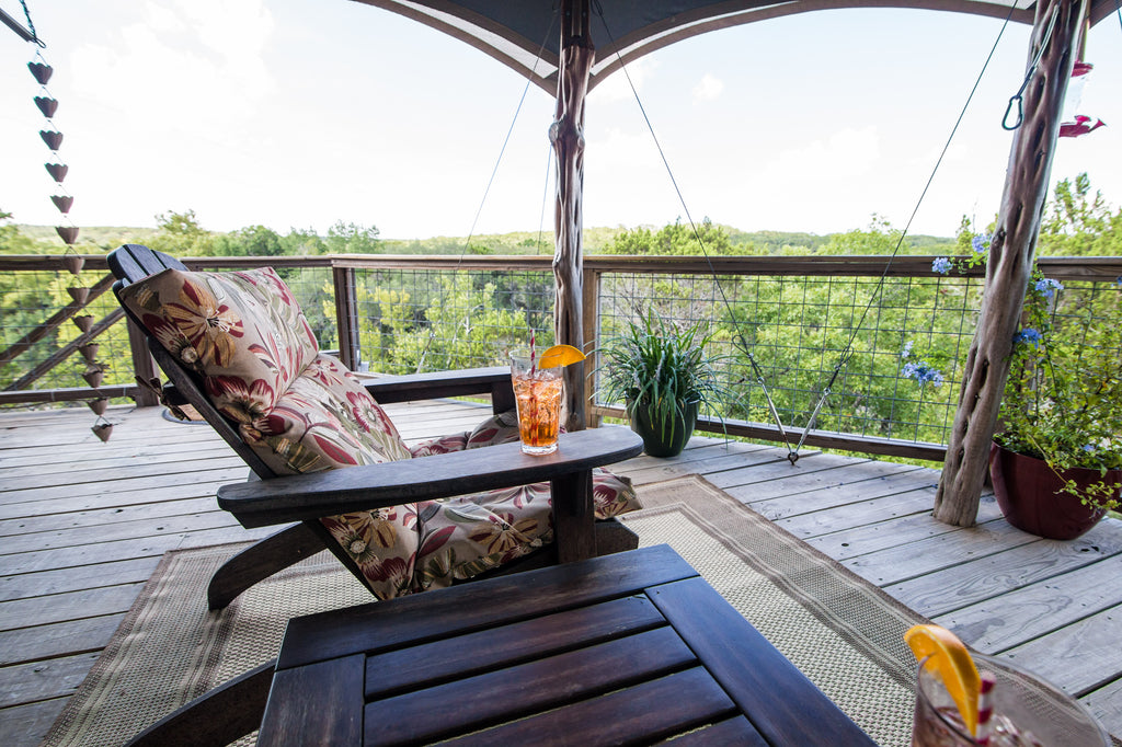 Enjoy a Beverage While You Enjoy the Texas Hill Country