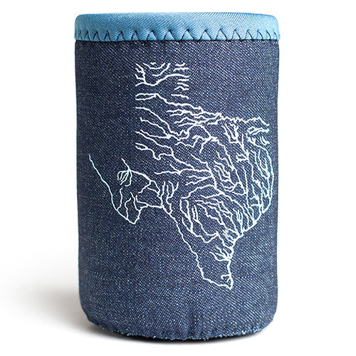 Denim Texas Waterways Drink Cover
