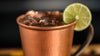 Hand hammered copper mug mexican mule rim