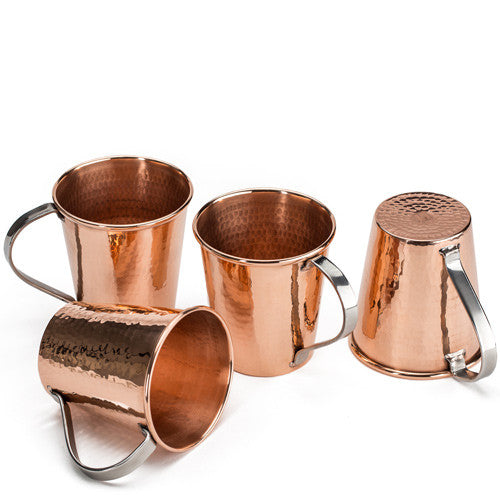 Hand hammered copper mug set mexican mule 20 oz icon