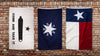 Texas flags bundle - come and take it dezavala lone star