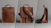 Texas Satchel and Page leather map case shoulder bag all sides
