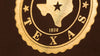 Republic of Texas Passport foil stamp detail