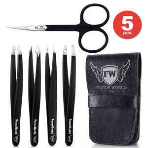 FocusWorld™ Double Black Tweezers Set