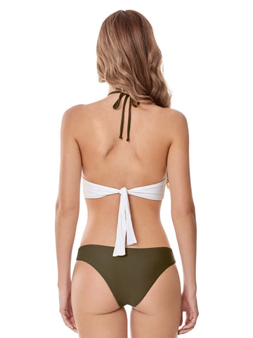Style 139 Olive - CHURUM MERU DOUBLE CROCHET STRIPES MONOKINI OLIVE