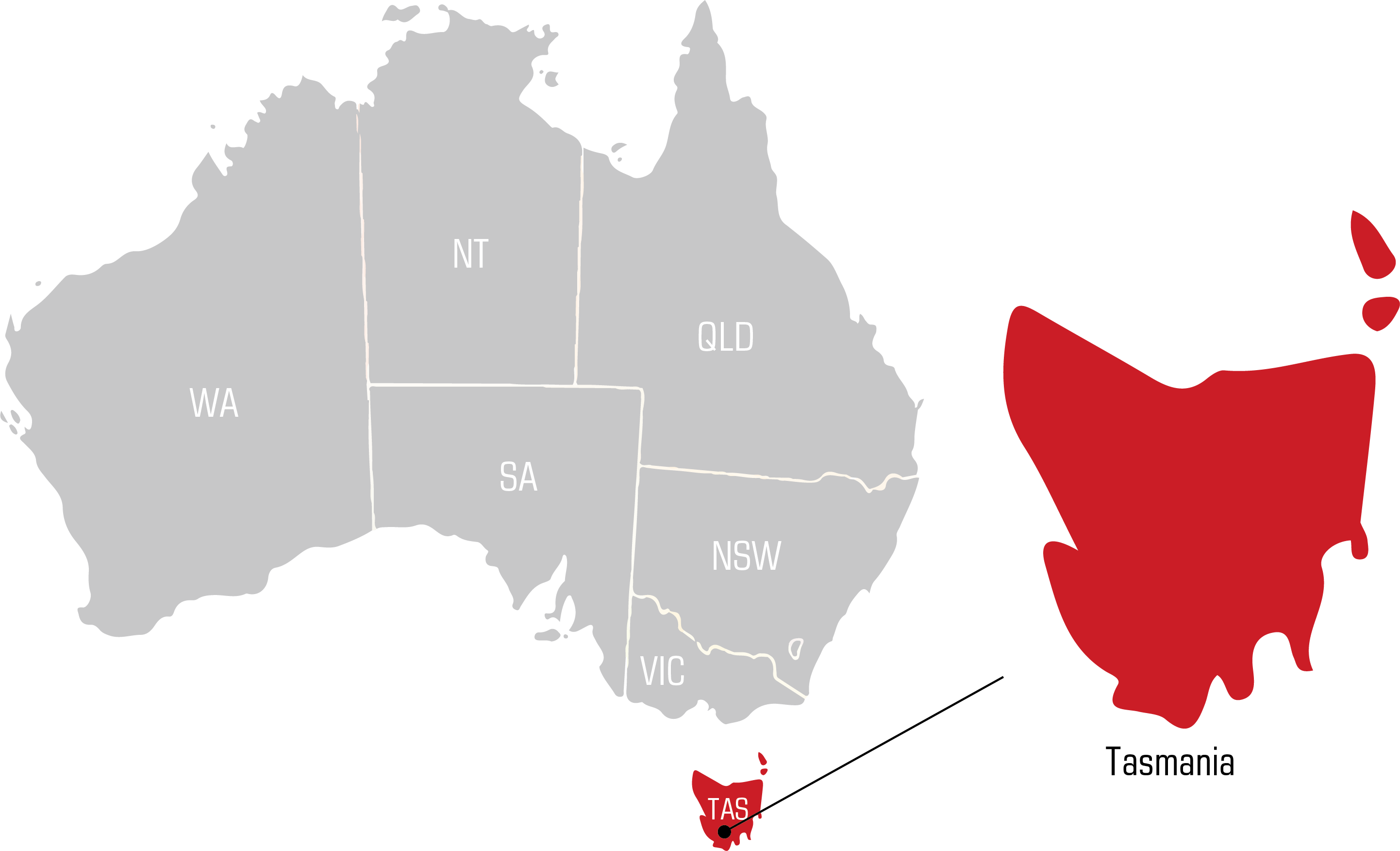 QWS Tasmania Welding Supplies map