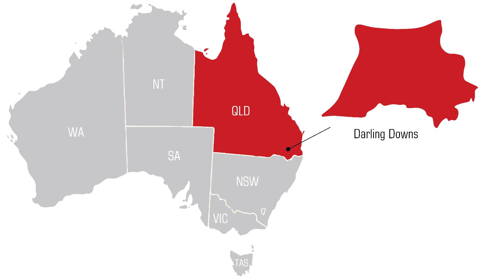Toowoomba and darling downs Welding Supplies map