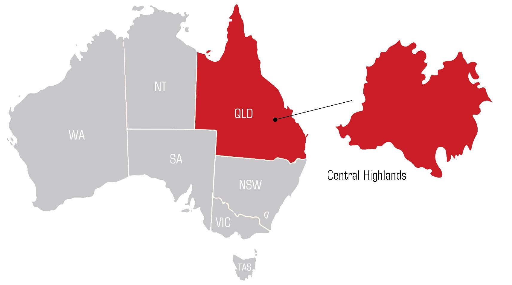 QWS central highlands Welding Supplies map