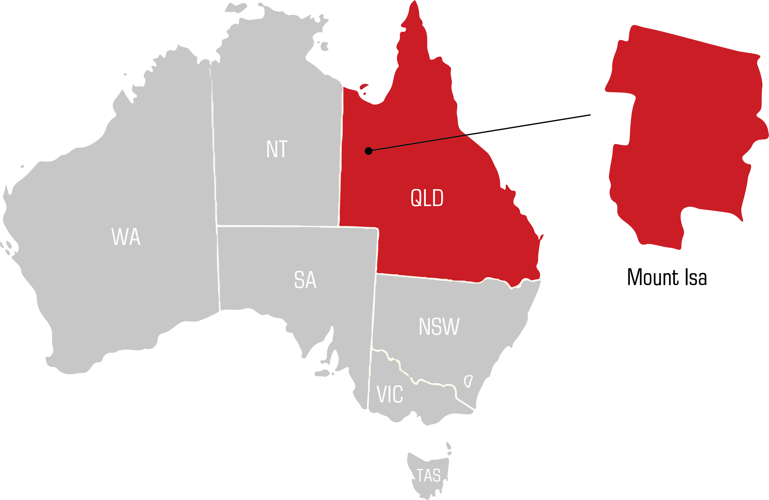 QWS Mt isa Welding Supplies map