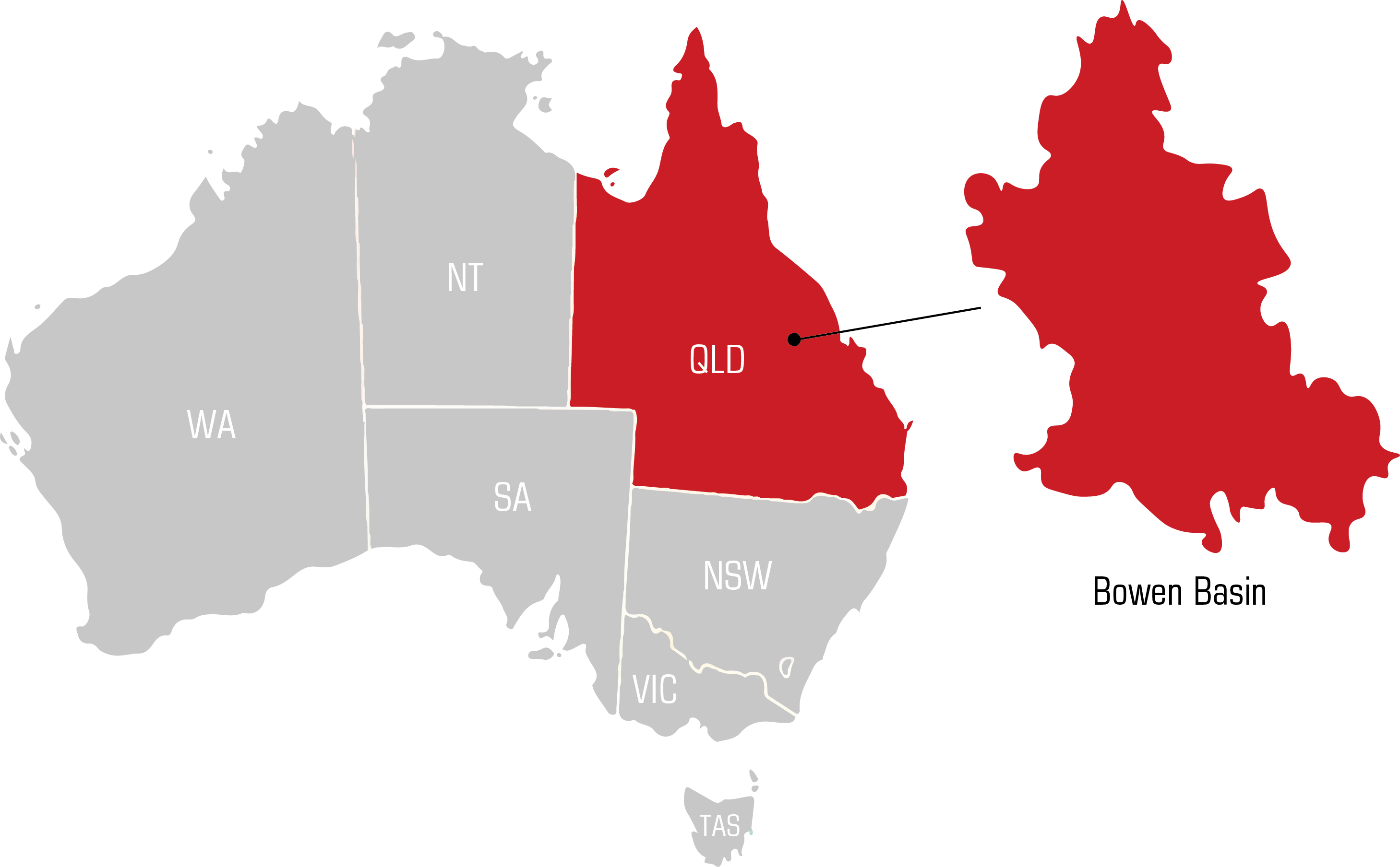 QWS bowen basin Welding Supplies map