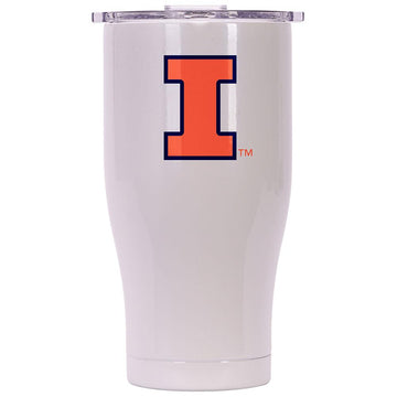 Univ. Of Illinois Chaser Pearl/Clear 27oz Chaser