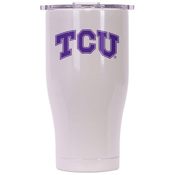 Texas Christian 27oz Chaser Pearl/Clear