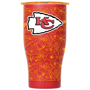 Chaser 27oz Red/Gold Gold Floral Sketch Kansas City Chiefs