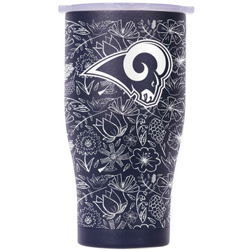 Chaser 27oz Navy/White White Floral Sketch Los Angeles Rams