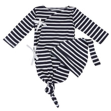Load image into Gallery viewer, Newborn Bamboo Sleep Gown & Hat Set