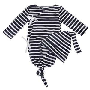 Newborn Bamboo Sleep Gown & Hat Set
