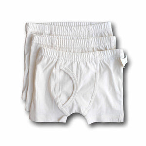 Natural Undyed Organic Cotton Baby Boxer Shorts