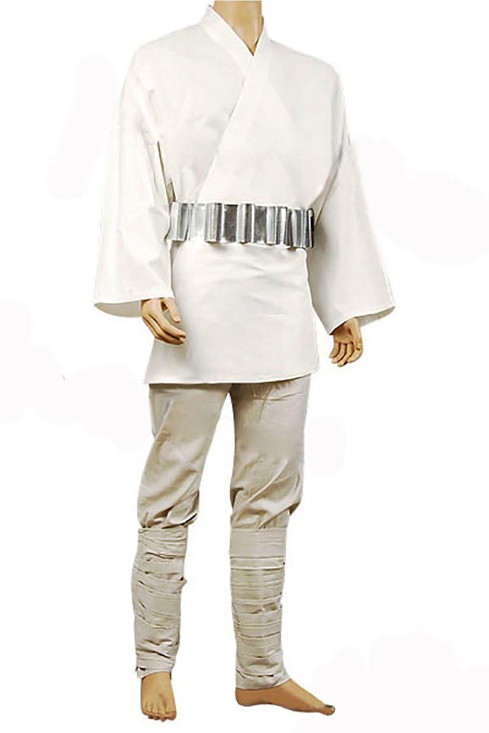 Star Wars Luke Skywalker Tunic Cosplay Kostüm Weiß