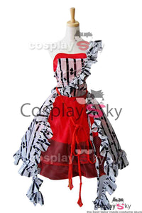 Tim Burton Alice In Wonderland Alice Rot Kleid Cosplay Kostüm
