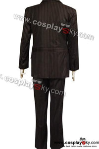 Who will be Doctor Dr Brown Nadelstreifen Suit Blazer Hose Cosplay Kostüm