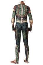 Laden Sie das Bild in den Galerie-Viewer, 2018 Aquaman Comicverfilmung Arthur Curry Cosplay Kostüm Jumpsuit Grün