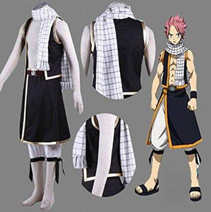 Fairy Tail Etherious Natsu Dragneel Schal Cosplay Requisite Schal Weiß
