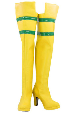 THE AVENGERS X-MEN ANNA MARIE JUMPSUIT ROGUE Cosplay Schuhe Stiefel