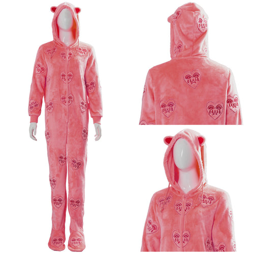 Birds of Prey: The Emancipation of Harley Quinn Rosa Schlafanzug Hooded Pyjama Cosplay