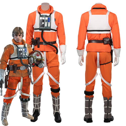 Star Wars Luke Skywalker Kostüm Pilot Uniform Cosplay Halloween Karneval Kostüm
