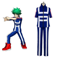 Laden Sie das Bild in den Galerie-Viewer, Boku no Hero Academia My Hero Academia Izuku Midoriya Trainingsanzug Cosplay Kostüm Set
