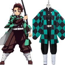 Laden Sie das Bild in den Galerie-Viewer, Demon Slayer: Kamado Tanjirou Kimetsu no Yaiba Cosplay Kostüm