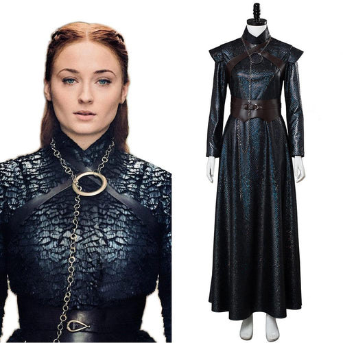 GOT 8 Game of Thrones Staffel 8 -Sansa Stark Cosplay Kostüm Version B