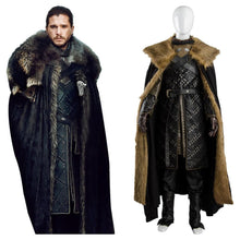 Laden Sie das Bild in den Galerie-Viewer, GOT Game of Thrones Staffel 8 Stark Night's Watch Jon Snow Jon Schnee Cosplay Kostüm
