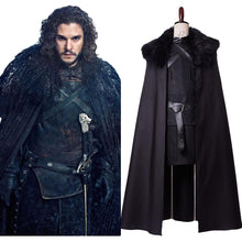 Laden Sie das Bild in den Galerie-Viewer, Game of Thrones GoT Jon Snow Jon Schnee Nacht Seher Outfit Cosplay Kostüm