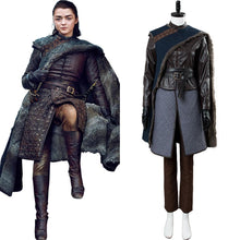Laden Sie das Bild in den Galerie-Viewer, Game of Thrones S8 Staffel 8 Arya Stark Cosplay Kostüm