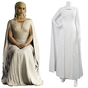 Game of Thrones Staffel 5 S5 Daenerys Targaryen Cosplay Kostüm Kleid für Damen