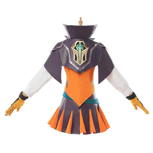 LoL League of Legends Luxanna Crownguard League of Legends Battle Academy Cosplay Kostüm