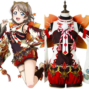 Love Live ! You Watanabe Aqours Fall Leaves Ver. SR 1355 Cosplay Kostüm