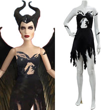 Laden Sie das Bild in den Galerie-Viewer, Maleficent 2 Machte der Finsternis Königin Fee Maleficent Kleid Cosplay Kostüm NEU