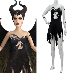 Maleficent 2 Machte der Finsternis Königin Fee Maleficent Kleid Cosplay Kostüm NEU