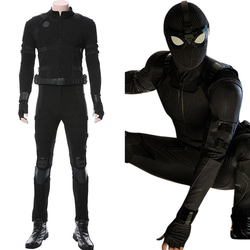 Spider-Man: Far From Home‎ Noir Schwarz Suit Cosplay Kostüm NEU