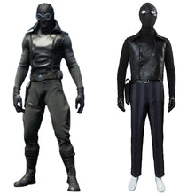 Laden Sie das Bild in den Galerie-Viewer, Spider-Man: Into the Spider-Verse Peter Parker / Spider-Man Noir Cosplay Kostüm