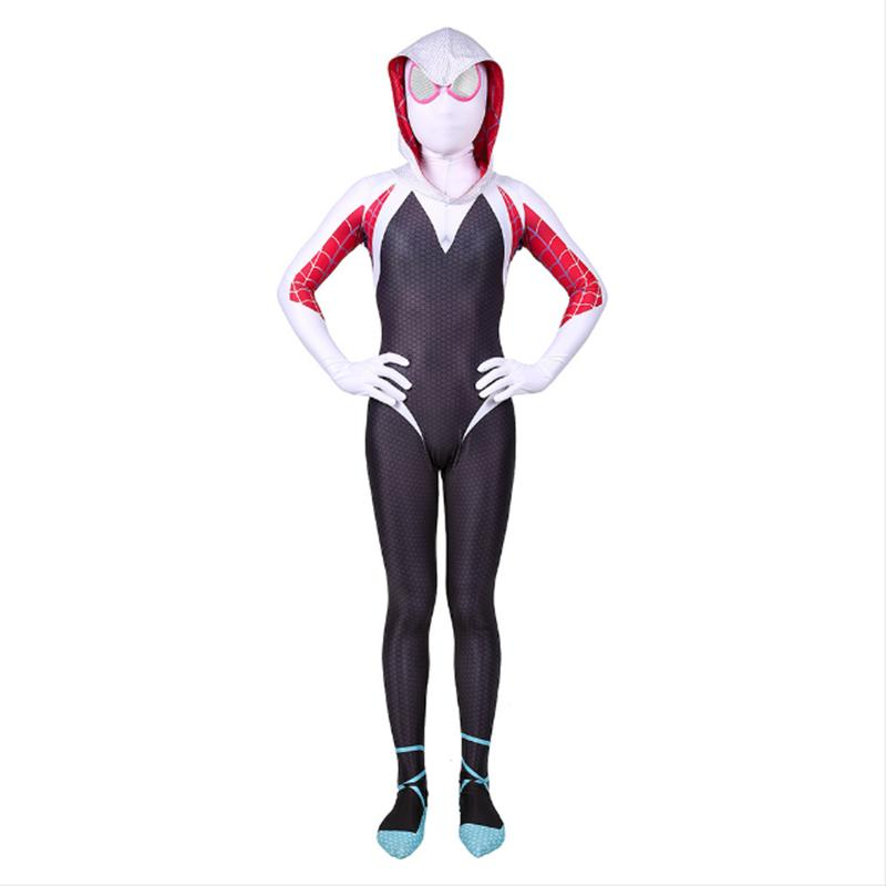 Spider-Man: Into the Spider-Verse Spider-Gwen Kinderkostüm für Mädchen Jumpsuit Cosplay