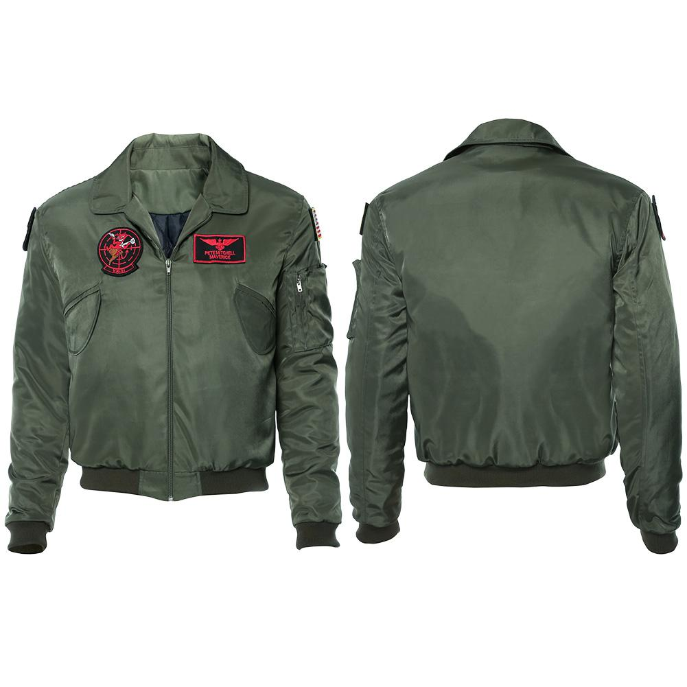 Top Gun 2 LT Pete 'Maverick' Mitchell Tom Cruise Jacke Pilot Jacke Cosplay Kostüm