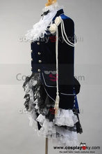 Laden Sie das Bild in den Galerie-Viewer, Black Butler Ciel Cosplay Kostüm Dunkelblau Kleid