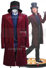 Laden Sie das Bild in den Galerie-Viewer, Charlie and the Chocolate Factory Willy Wonka Cosplay Kostüm Set Lila