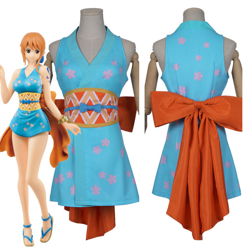 Nami Kostüm Wano Country One Piece Wa no Kuni Nami Cosplay Halloween Karneval Kostüm