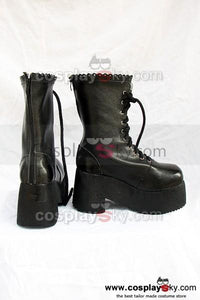 Fate Stay Night Saber Cosplay Stiefel Schuhe Schwarz