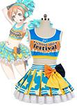 Love Live! Cheerleaders Anfeuerer Uniform Rin Hoshizora Cosplay Kostuem